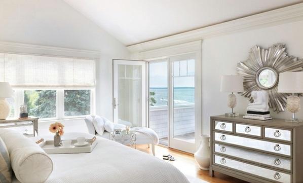 Schlafzimmermöbel und Nachttische spiegel antik design weiß