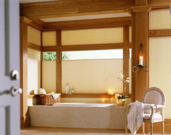 Sichtschutz Badfenster asiatisch stil holz