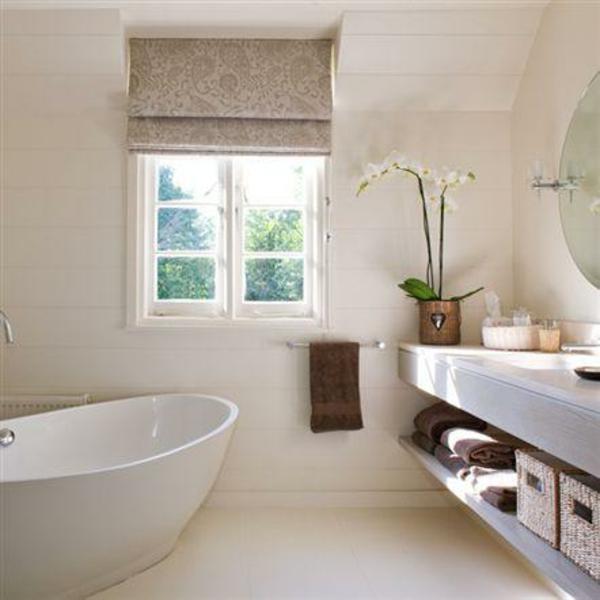 Sichtschutz Badfenster badewanne fensterrollo