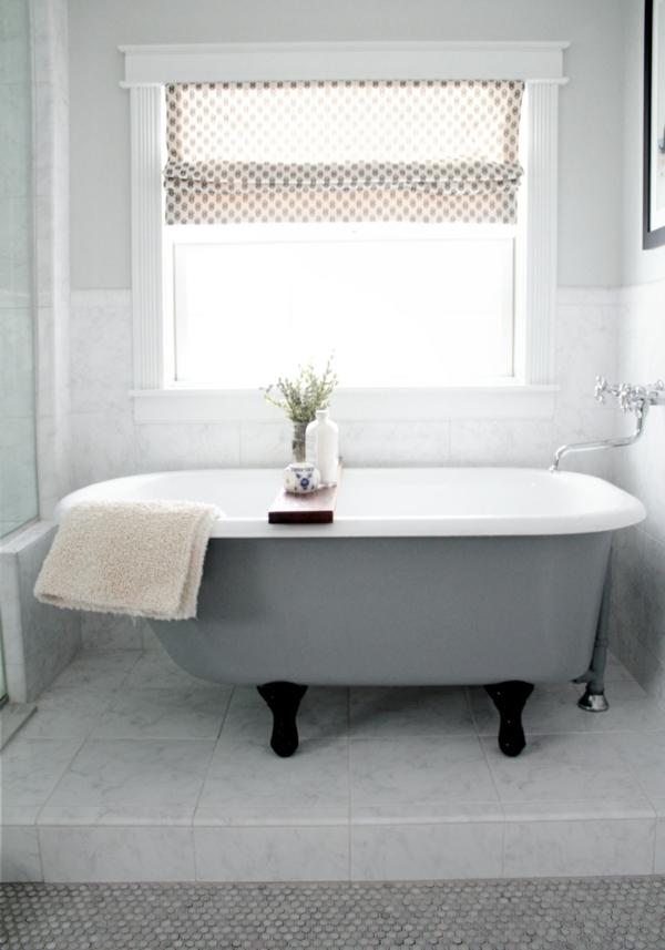 Sichtschutz für Badfenster badewanne klassisch