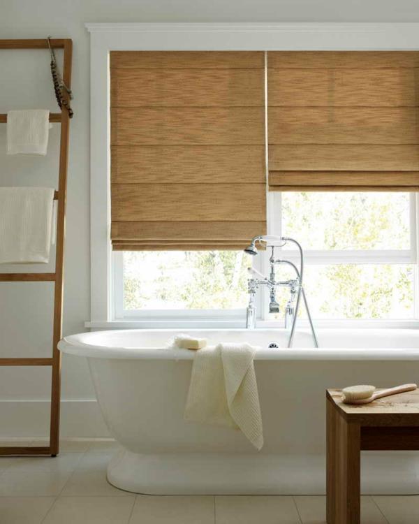 Sichtschutz Badfenster badewanne weiß