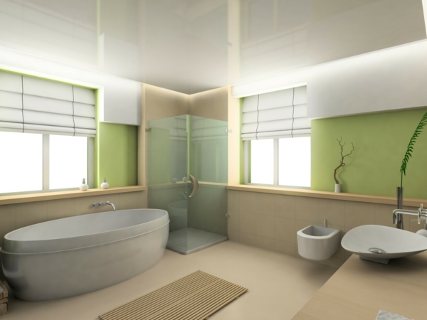 Sichtschutz f r badfenster fensterl den und fensterdeko for Salle de bain couleur kaki