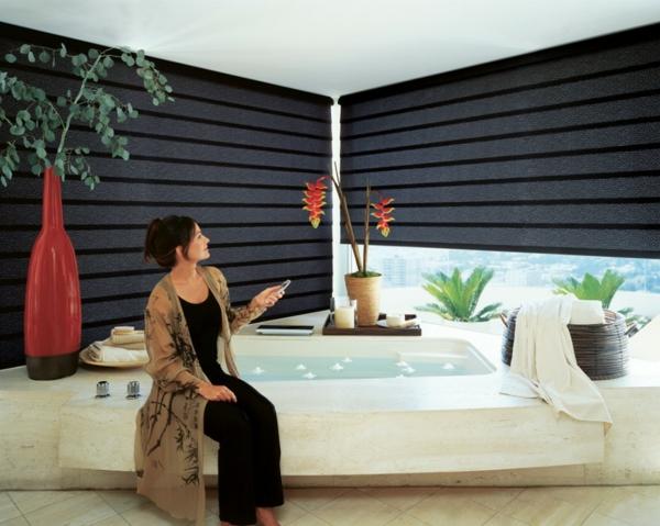 Sichtschutz für Badfenster groß glaswand