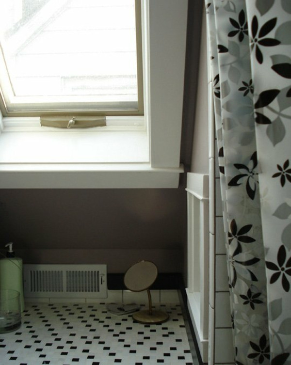 Badfenster monochromatisch Sichtschutz