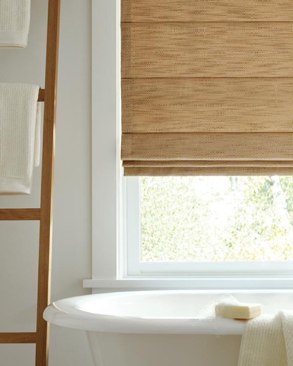 Sichtschutz Badfenster robust natürlich