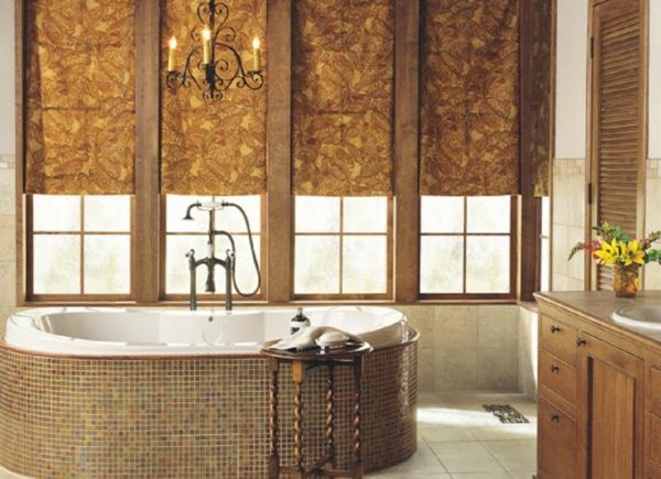 Sichtschutz für Badfenster rund fenstrerollo