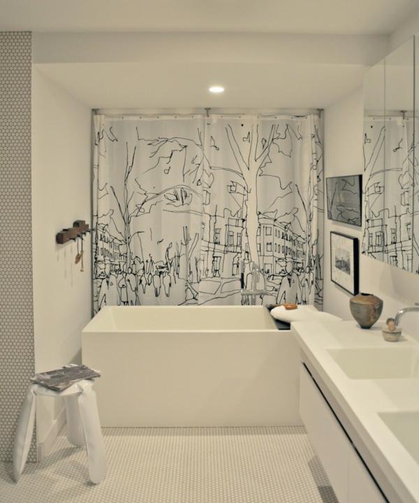 Sichtschutz duschvorhang Badfenster traditionell einrichtung