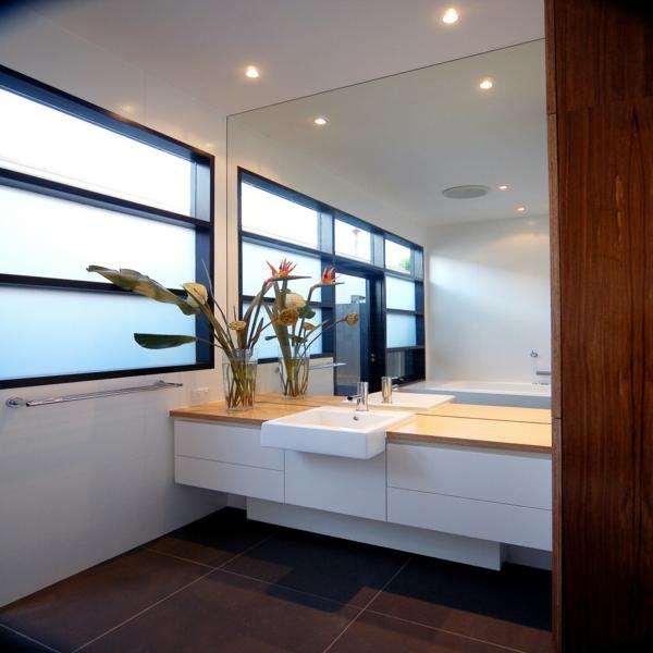 Sichtschutz Badfenster urban stil zimmerpflanzen