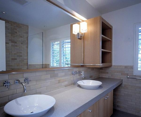 Sichtschutz für Badfenster waschbecken