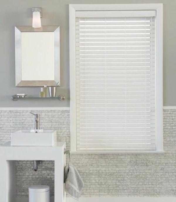 Sichtschutz für Badfenster weiß stoffe