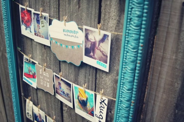 Sommer Souvenirs bilderrahmen türkis