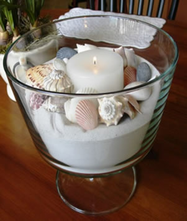 Souvenirs glas sand muscheln Sommer