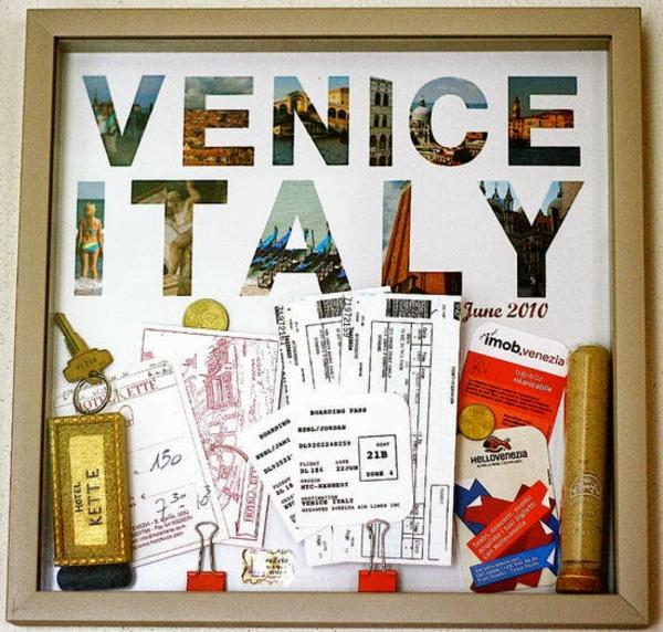Sommer bilderrahmen  Souvenirs venedig italien