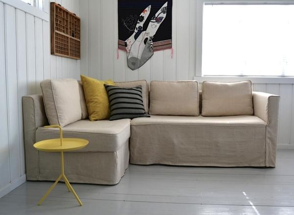 Stretchbezug für Sofa beige braun