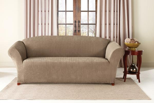 Stretchbezug traditionell Sofa beige farbe gardinen