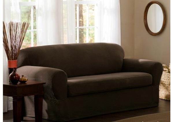 Stretchbezug wandspiegel Sofa dramatisch wohnzimmer