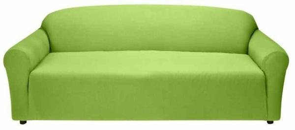 Stretchbezug Sofa hell grün frisch aktuell
