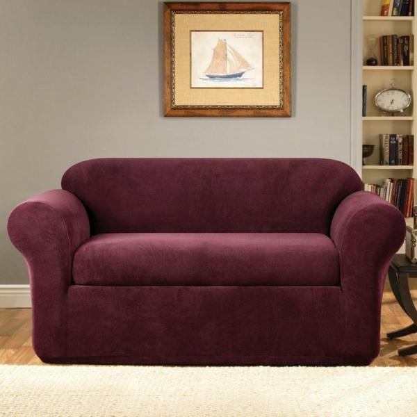 Stretchbezug für Sofa kühn gesättigt