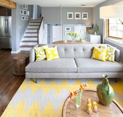 Wohnzimmer Farbgestaltung U2013 Grau Und Gelb