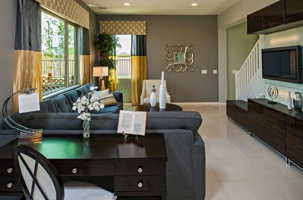 Wohnzimmer Farbgestaltung thematisch einrichtung