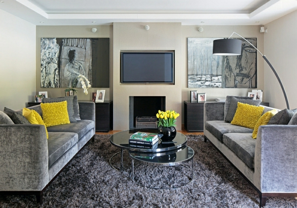 Wohnzimmer Farbgestaltung wohnlich atmosphäre