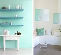 Wandfarbe Mintgrün verleiht Ihrem Wohnraum ein magisches Flair