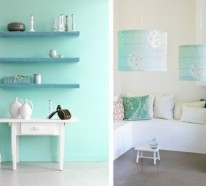 mint blau wandfarbe wohn design. Black Bedroom Furniture Sets. Home Design Ideas