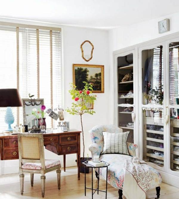 ankleidezimmer gestalten begehbaren kleiderschrank selber bauen vintage möbel