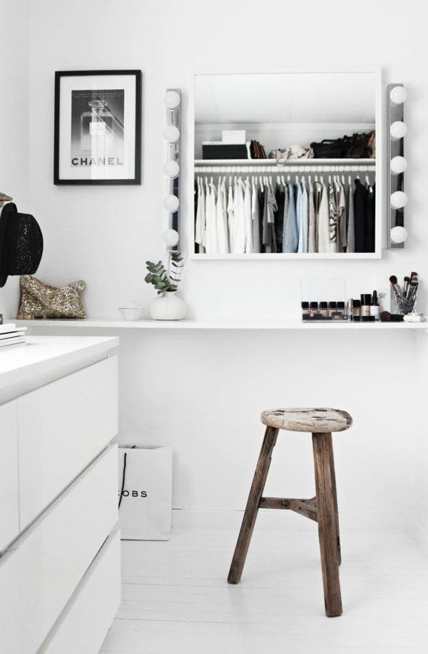 Ikea Fyndig Eckunterschrank ~ Legen Sie Wert auch auf die Wandgestaltung in Ihrem Ankleidezimmer