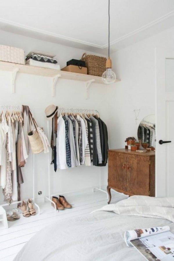 ankleidezimmer selber bauen kleiderständer wandregal bauen schlafzimmer ideen