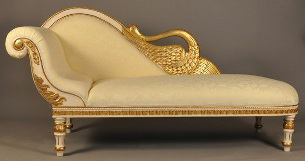 Recamiere barock  Chaiselongue Sofa - komfortable Lounge Möbel