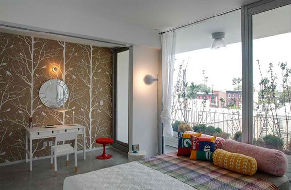 Wandgestaltung Ideen Schlafzimmer Wandtapete Geometrisches: 20 Tolle Wandgestaltung Ideen Fürs