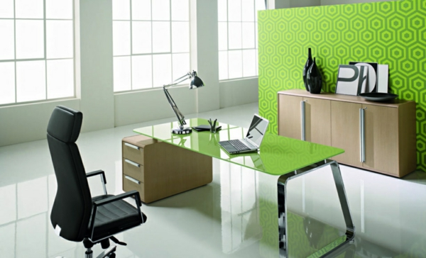arbeitszimmer gestalten feng shui büro büromöbel holz farben