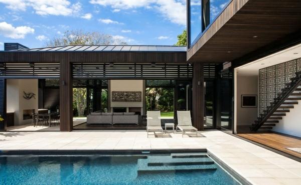 architektenhaus außenbereich nachhaltige architektur außenbereich pool