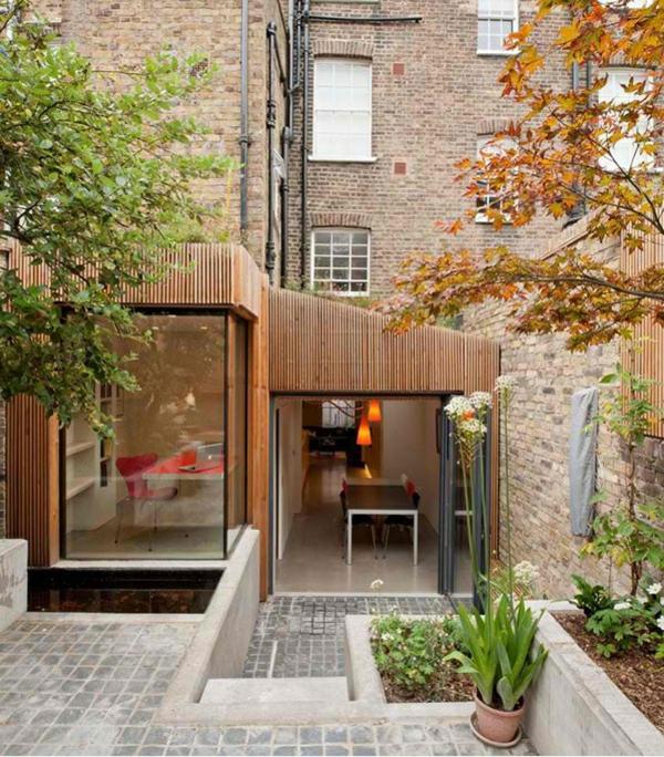 architektenhaus jewelbox london moderne architektur innenhof