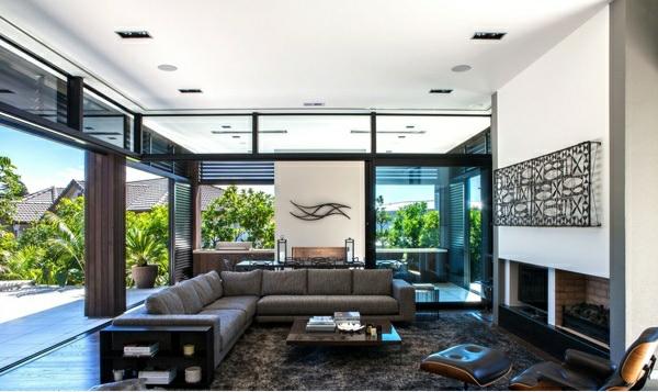 Modernes haus mit nachhaltigem design in neuseeland - Innendesign wohnzimmer ...