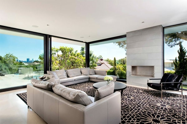 Attraktiv Modernes Haus Australien Innendesign Wohnzimmer