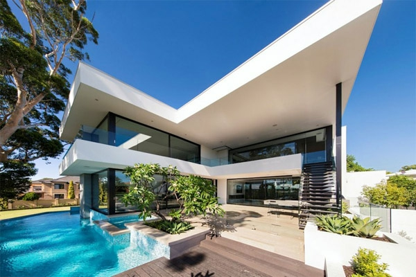 Modernes Haus Australien Schöne Aussicht Pool
