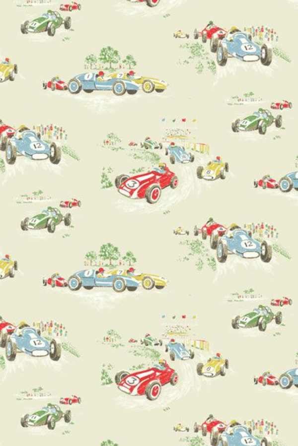 Kinderzimmer Tapete Autos : Kids Vintage Wallpaper Patterns