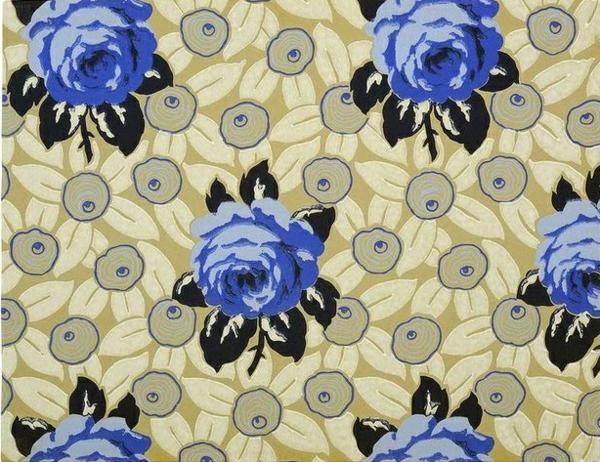 Blaue Tapeten Mit Blumen : Farbige Blumenmuster