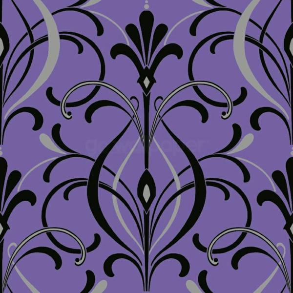 dekotapete tapeten design wohnideen gelbe lila schwarz silber