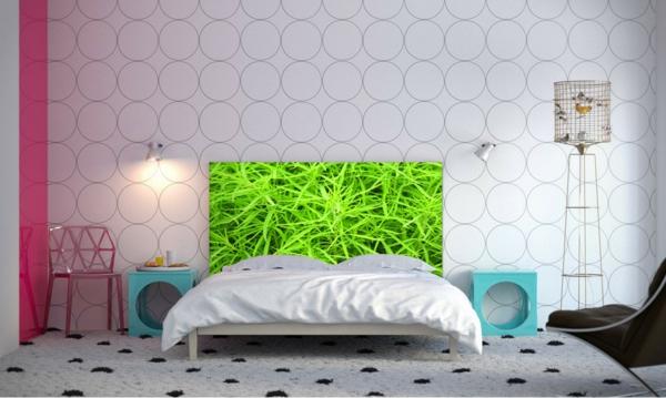 art schlafzimmer einrichten bett kopfteil