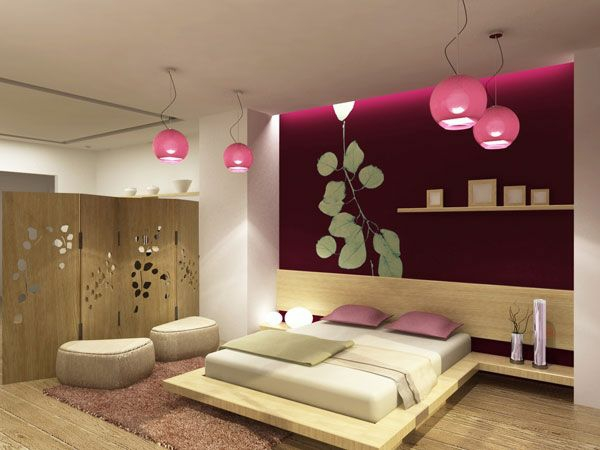 asiatisches orientalisches schlafzimmer design rosa pendelleuchten. Black Bedroom Furniture Sets. Home Design Ideas