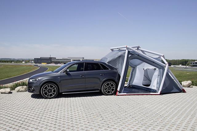 audi Q3 camping zelt designer außenmöbel