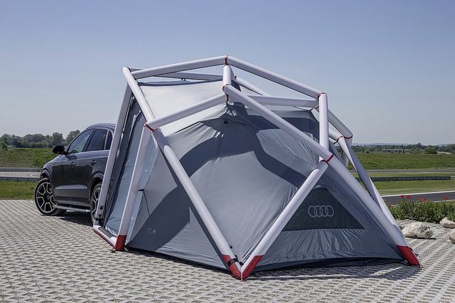 campen leicht gemacht mit dem camping zelt f r audi q3. Black Bedroom Furniture Sets. Home Design Ideas