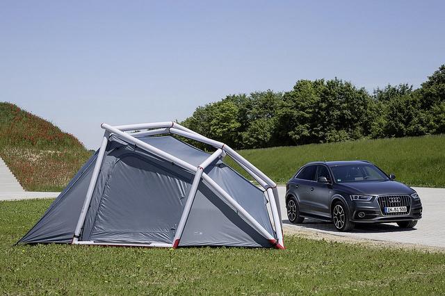 aufblasbares zelt designer campingzelte heimplanet audi Q3