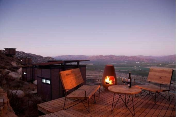 ausgefallene hotels terrassengestaltung ideen holzdielen Endemico Resguardo Silvestre