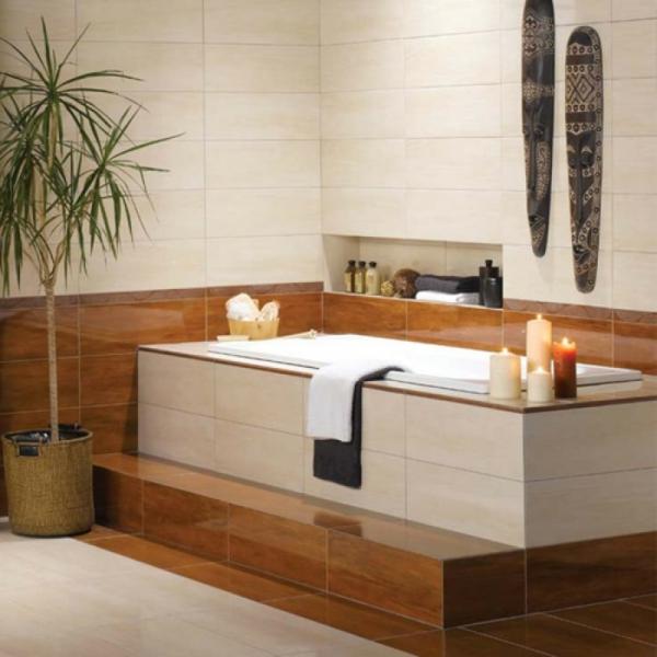 badewanne einfliesen einbauwanne moderne badezimmer zen atmophäre