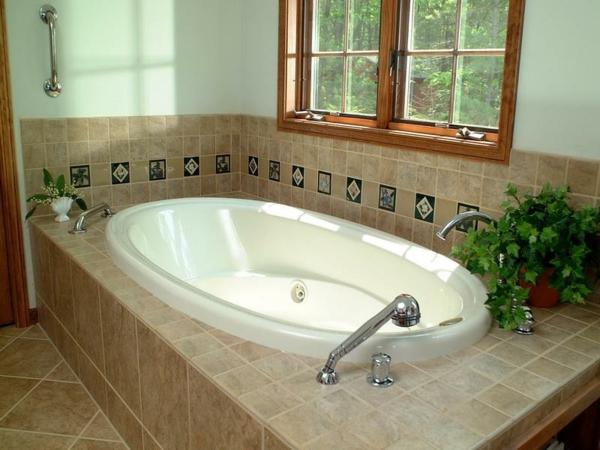 badewanne oval verkleiden badewanneträger fliesen verfugen
