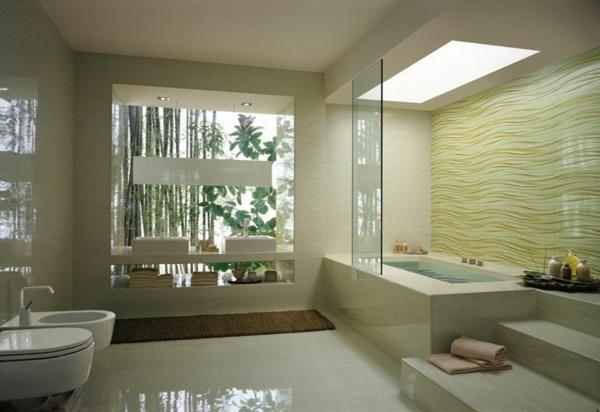 badewanne verkleiden einbauwanne moderne badezimmer fliesen zen atmophäre